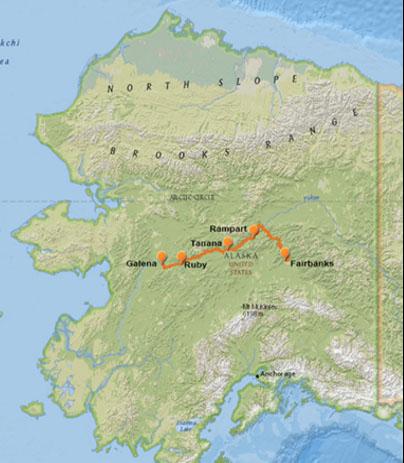 Yukon River - Yukon river map